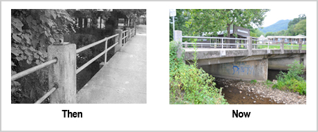 Richard Creek Bridge Then and Now